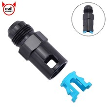 цена на evil energy Aluminum AN8 EFI Adapter Fitting Connector -8 AN Male to 3/8 SAE Quick-Disconnect Female Push-On EFI Fitting