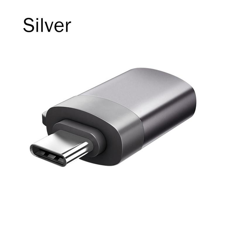 New ABS Material OTG Adapter Aluminum Alloy Environmental Protection Metal Shell For Mac Book Phone Tablet USB 2.0 Type-C Port