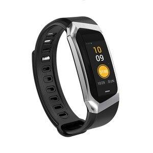 Image 5 - E18 الذكية المعصم الفرقة معدل ضربات القلب ضغط الدم رصد الرياضة سوار اللياقة البدنية ساعة ذكية ل iOS أندرويد الرجال النساء