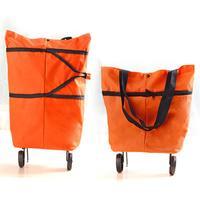 Big Capacity Storage Handbag Bag Reusable Orange, Green Patchwork Durable Shopping Bag
