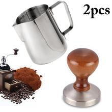 Coffee-Tamper Espresso Barista-Style Wood-Handle Flat-Base Stainless-Steel 58MM