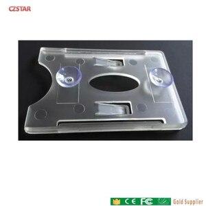 Image 1 - 品質 uhf rfid カード吸盤吸引ホルダーステッカーフロントガラス uhf カードホルダー車車ガラスタグのため駐車制御アクセス