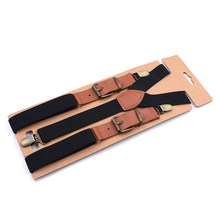 2019 New Fashion Unisex Three Clip Monochrome Strap Elastic 2.5 Spell Leather Adult Strap Clip High Quality Fashion Personality