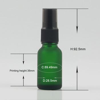 High quality e liquid glass bottles with dispenser 15ml glass spray bottle with pump