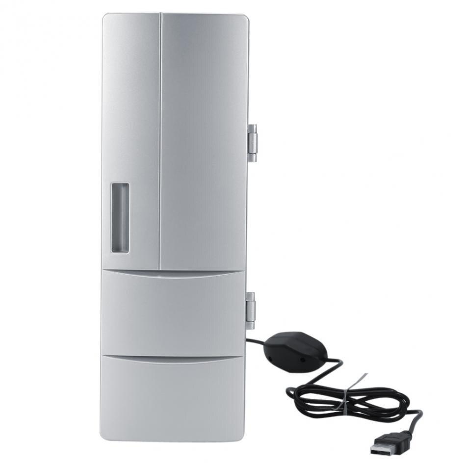 100% Marke Tragbare Mini Usb Pc Laptop Kühlschrank Kühler Pc Kühlschrank Wärmer Kühler Getränke Trinken Dosen Gefrierschrank Bier Kühler Heißer