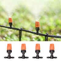 10 pcs Single Head Orange Atomizing Belt Tee Atomization Nozzle Water Control Sprayer Mist Adjustable Irrigation Sprinkler