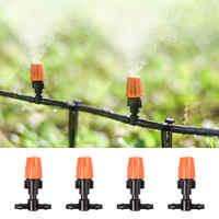 10 pcs Single Head Orange Atomizing Belt Tee Atomization Nozzle Water Control Sprayer Mist Adjustable Irrigation Sprinkler