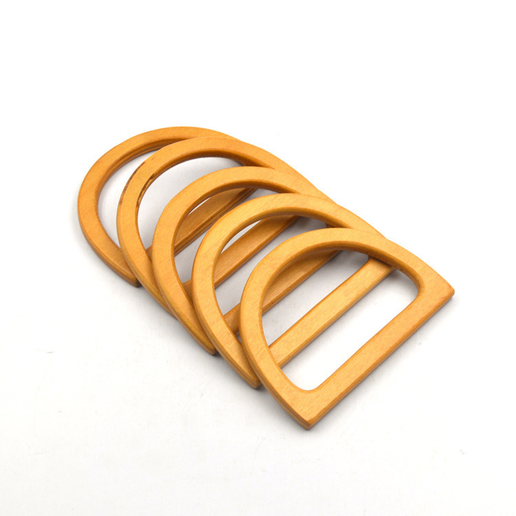11.5cm Wood Bag Handle Handbag Accessories Purses And Handbags Handles Replacement D Shape Nature Wooden Handle Obag Diy Parts
