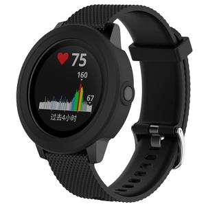 Image 2 - Silicone Protector Case Smart Watch High Quality Cover Shell 8 Colors For Garmin Vivoactive 3 Smart Watch Diameter 45.4MM