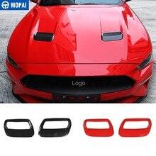 MOPAI Auto Aufkleber für Ford Mustang 2018 + Carbon fiber Hood Motor Abdeckung Air Outlet Dekoration für Ford Mustang Auto zubehör