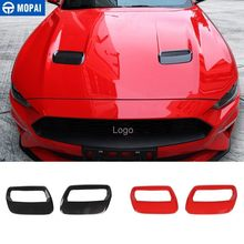 MOPAI Car Stickers for Ford Mustang 2018+ Carbon fiber Hood Engine Cover Air Outlet Decoration for Ford Mustang Car Accessories(China)