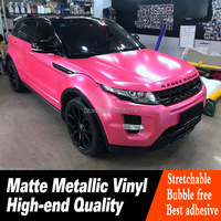Highest quality pink Vinyl Wrap Film Pearl Metal Wrap pink Car Vinyl Air Release Warranty 5 years real picture show