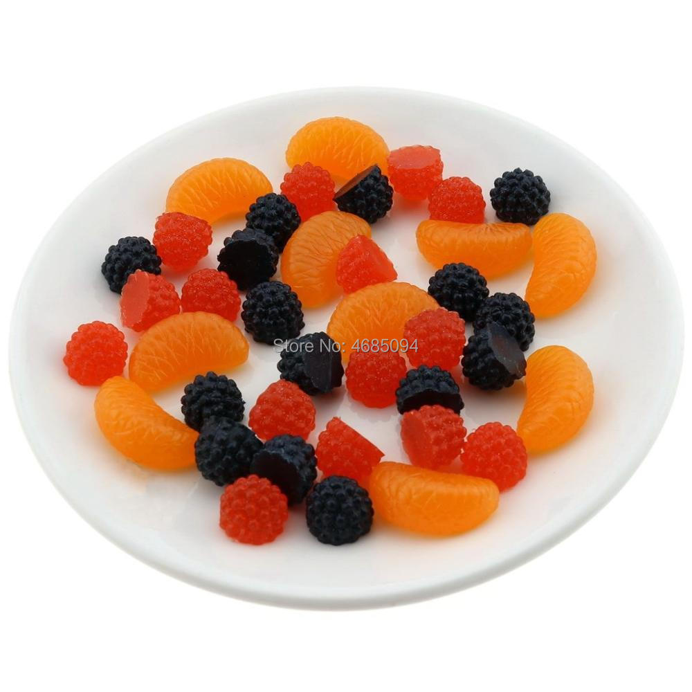 Gresorth Premium Artificial Fruit Slice Fake Raspberry Orange Fruits Home Party Decoration Photo Props in Artificial Fruits from Home Garden