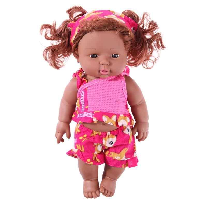 30 см реалистичные куклы новорожденных моделирование африканские куклы кукла игрушка с одеждой игрушки для детей день рождения Рождественский подарок