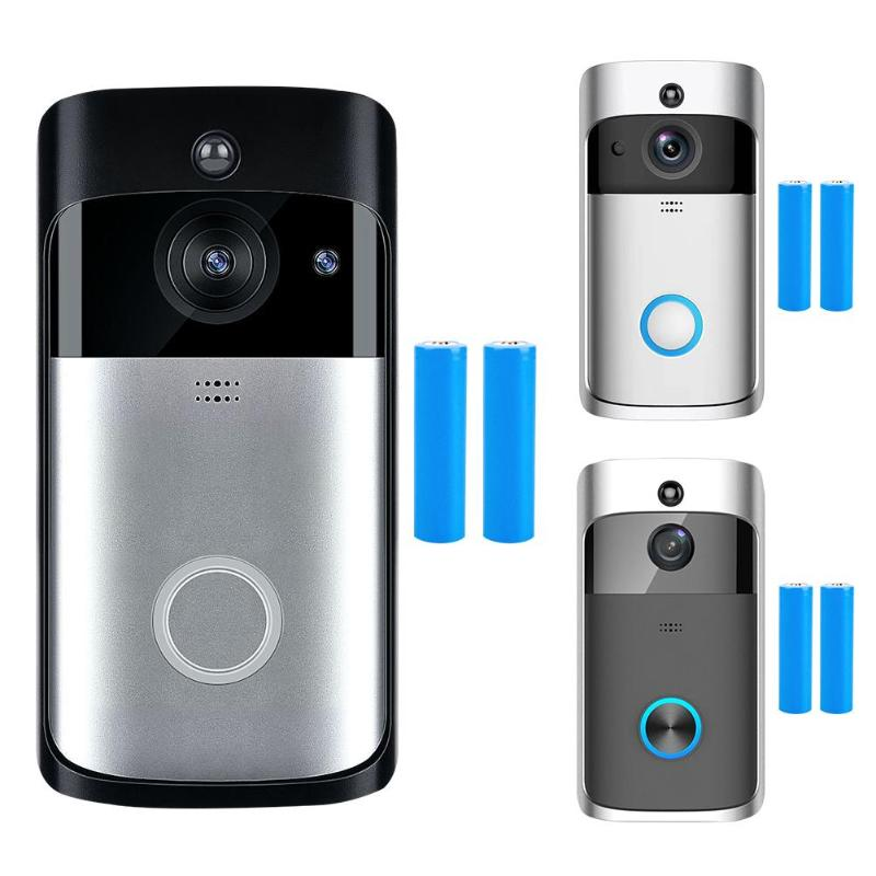 Smart WiFi sonnette HD 720 P visuel interphone enregistrement vidéo 166 degrés judas visionneuse à distance surveillance de la maison Vision nocturne