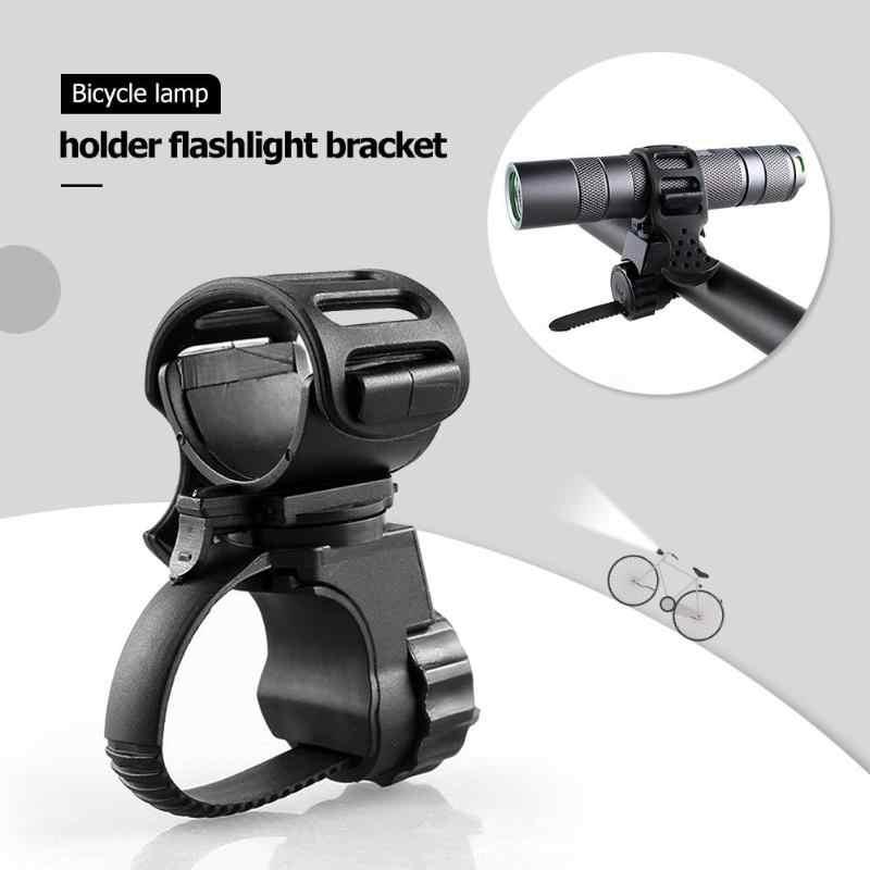 Bicycle Light Mount Bracket Bike Lamp Holder Clamp 360 Degree Rotatable #Z