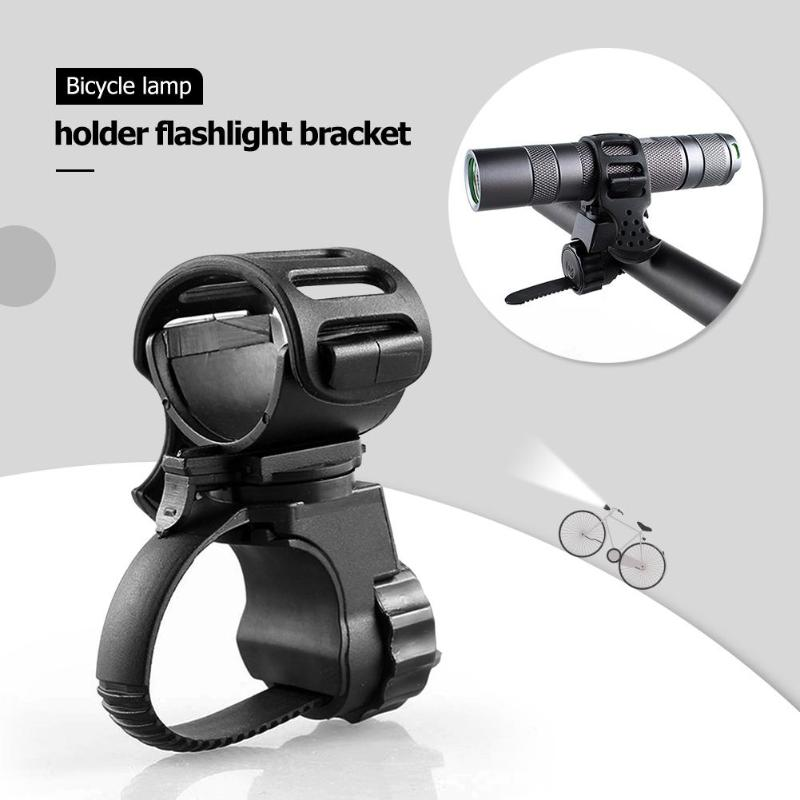 Bicycle Light Mount Bracket Bike Lamp Holder Clamp 360 Degree Rotatable LED Flashlight Torch Clamp Bike Accessories