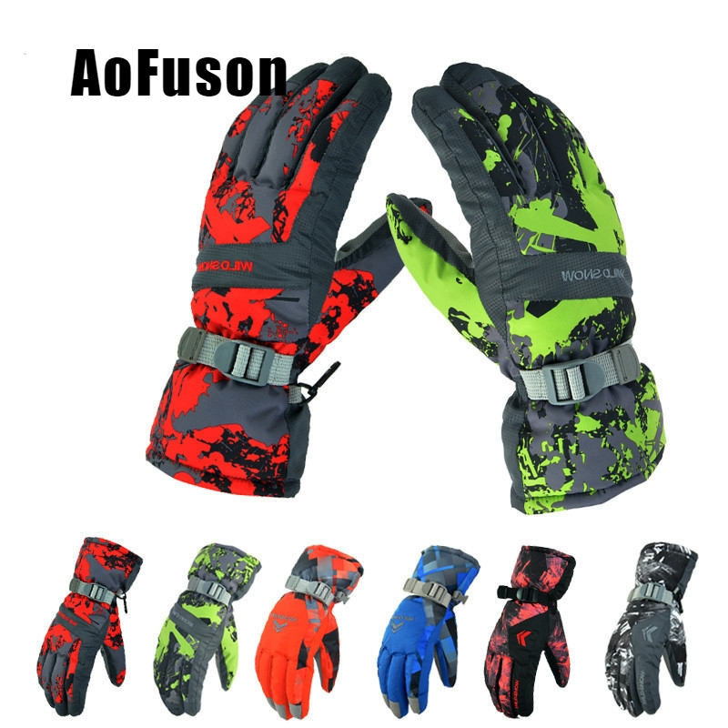 Women Men Ski Gloves Snowboard Gloves Snowmobile Motorcycle Riding Winter Gloves Windproof Waterproof Unisex Snow Gloves