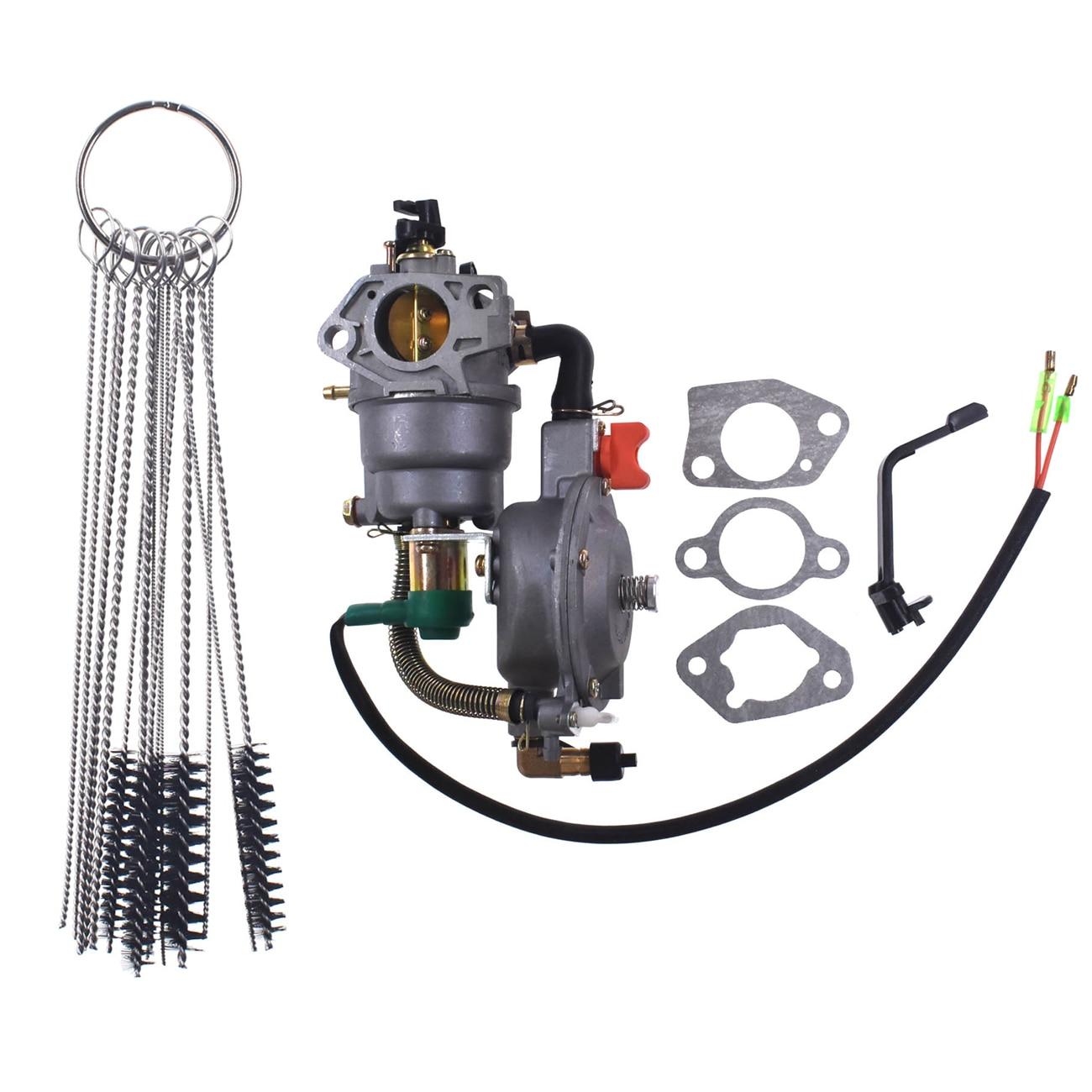 Carburateur double brosse de nettoyage de carburant Propane/essence pour Honda GX340/GX390