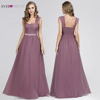 Dusty Pink Bridesmaid Dresses Ever Pretty Sleeveless A Line Lace Appliques Sexy Backless Dresses Purple Wedding Party Dresses