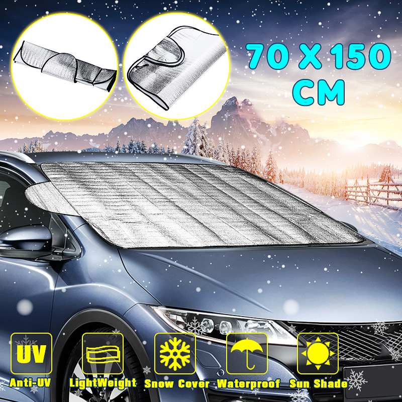 Durable Smart Windshield Cover Anti Shade Frost Ice Snow Protector UV Protection