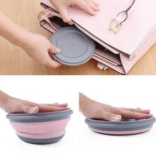 3PCS Portable Silicone Bowl Folding Bowl Salad Dish With Lid Lunch Box Instant Noodle Bucket Kitchen Picnic School Tableware Set 5 6 8 inch japanese cherry blossom ceramic ramen bowl large instant noodle rice soup salad bowl container porcelain tableware