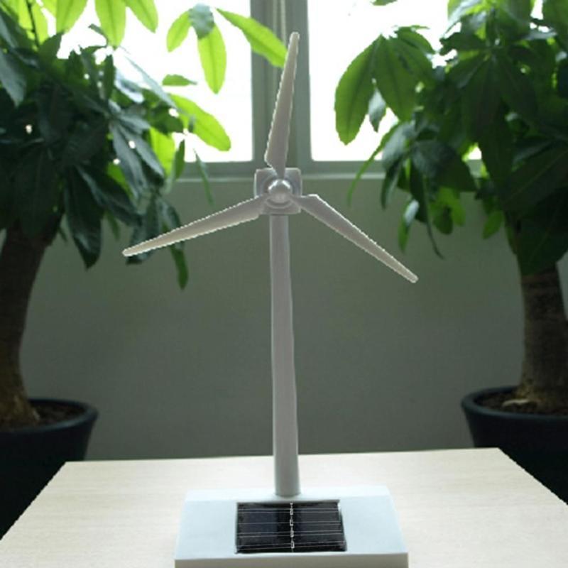 Solar Powered Windmill Toy 3D Windmill Model Education Fun Kids Toys Gift ABS Plastics Wind Turbine For Kids Adult Boy Toys