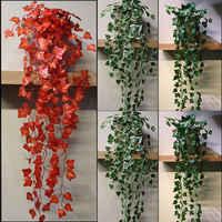 Künstliche Sukkulenten Perlen Fleischigen grünen Reben zweige wand Hängen Kunststoff Rattan pflanzen herbst hause hochzeit dekoration blumen