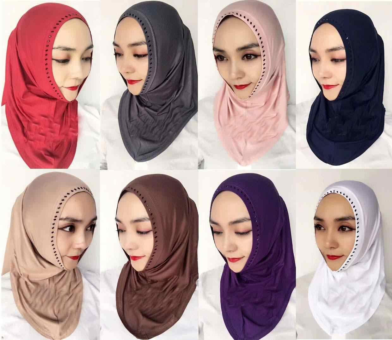 Women Cotton Scarf Shawl Hijab Muslim Long Headscarf Scarves Head Wraps