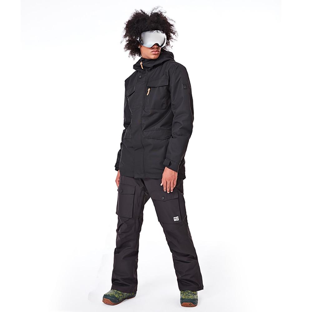 GSOU neige marque Ski costume hommes veste de Ski snowboard pantalon imperméable Ski de montagne costumes hiver mâle sports de plein air vêtements
