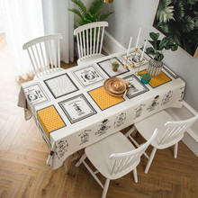 New Tablecloth 100% Cotton Plaid Rectangular Printed Coffee For Table Cover Home Wedding Cloth