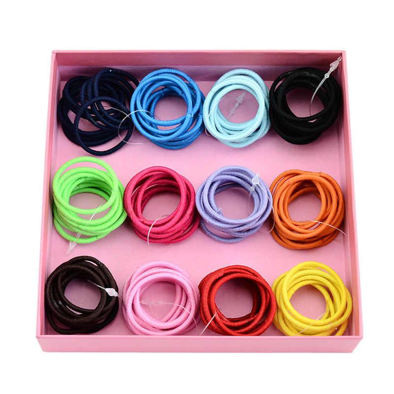 10 шт./партия Резиночки для волос ярких цветов для девочек, милые Резиночки для волос для маленьких девочек, эластичная повязка для волос для детей, аксессуары для волос с конским хвостом