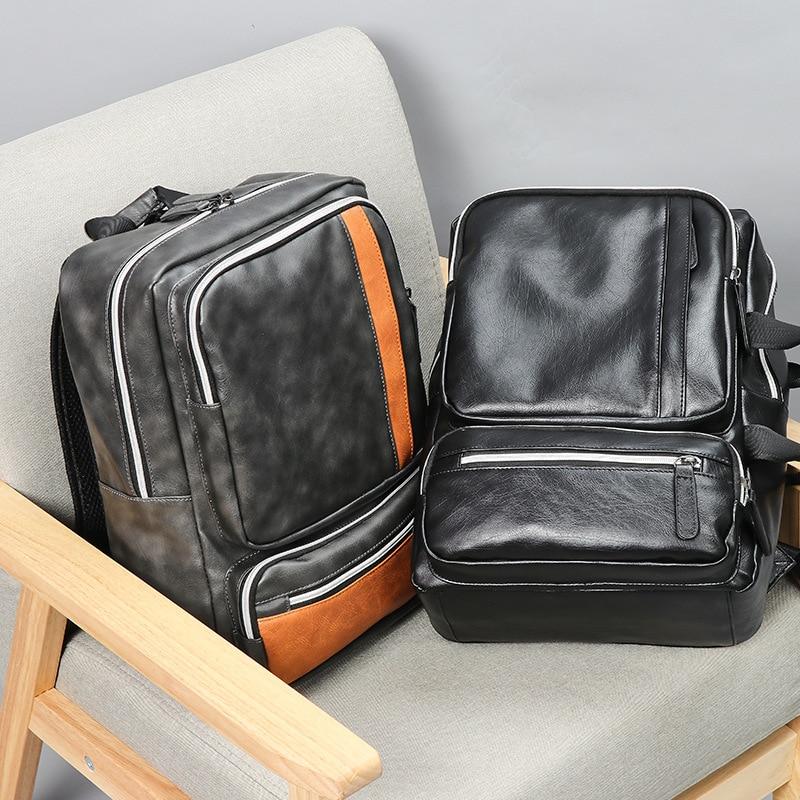 Sac à dos homme BILLETERA sacoche pour ordinateur portable grande capacité pour homme Vintage sacs à dos de voyage homme - 5