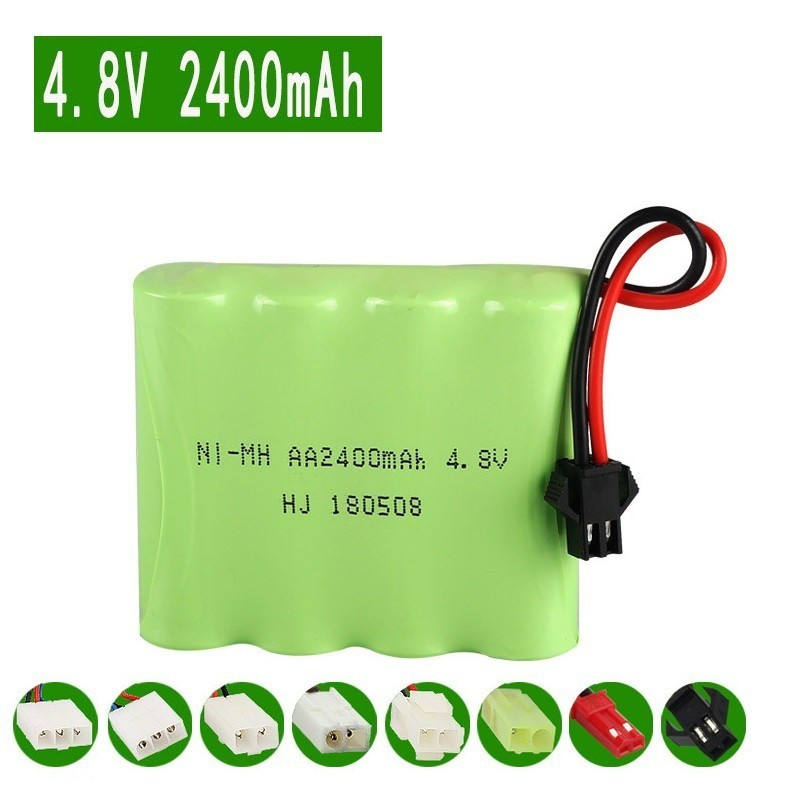 ( M Model ) 4.8V 2400mAh Ni-MH Battery For Remote Control Toys Cars Trucks Tank Guns Lighting Facilities RC TOYS 4.8v AA Battery