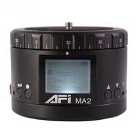 AFI Ma2 360 Time Lapse Video Camera Rotator Panorama Tripod Head Led For Canon Nikon Sony Dslr Phone 360 Timelapse Panning