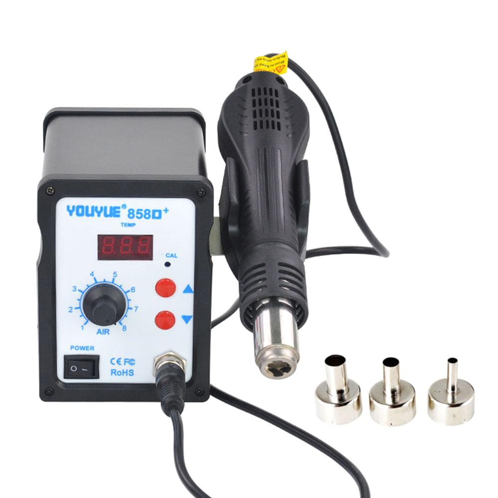 858D 700W Soldering Station LED Digital Solder Iron Desoldering Station BGA Rework Solder Station Hot Air