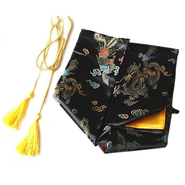 135cm Dragon And Phoenix Katana Samurai Sword Bag Tissu Black