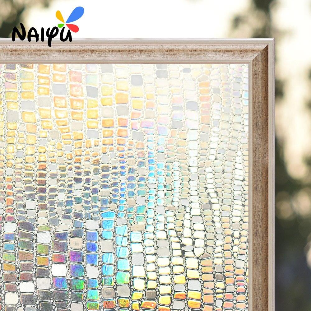 Pvc Static Cling Heat Insulation Opaque Explosion-proof Glass Stick Films No-glue Decorative Sticker Living Window Film Decorative Films