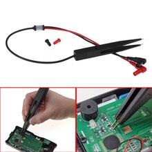 SMD тестовый зажим метр зонд покрытие катушка индуктивности конденсатор Цифровой мультиметр зонд автомобильный тестовый зажим Пинцет для резистора#0131