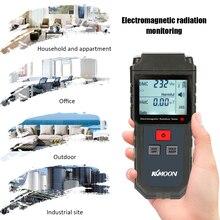 KKmoon портативный цифровой ЖК-тестер электромагнитного излучения Электрический полевой Магнитный дозиметр детектор с сигнализацией