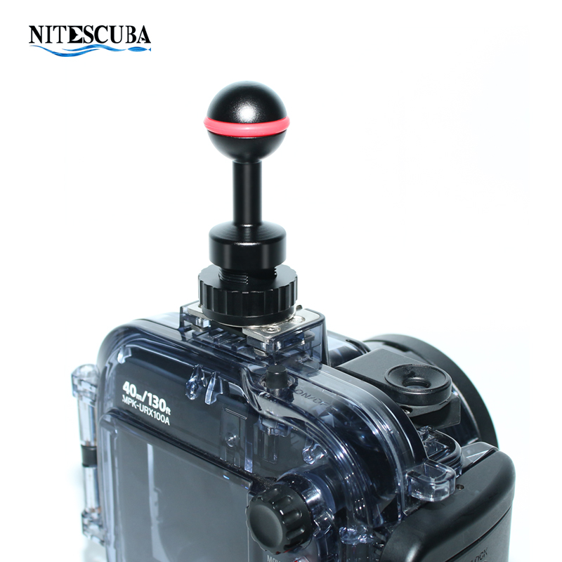 NiteScuba Diving vide light hotshoe Adapter Ball adaptor Mount for RX100 TG5 Camera housing case strobe Underwater Photography-in Sports Camcorder Cases from Consumer Electronics