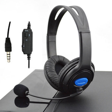 Internet Cafe Gaming Headset For PS4 HD Stereo 3.5mm Wired Head-Mounted Game Headphones With Microphone