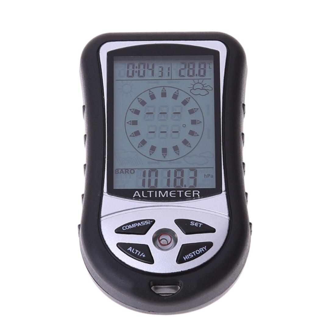 8 в 1 ЖК-цифровой альтиметр барометр термометр Прогноз погоды история часы календарь-Компас для походов охоты