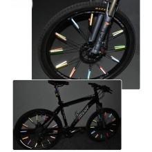 12 шт./пакет езда на велосипеде обода колеса говорил светоотражающие наклейки для велосипедов трубки Предупреждение DIY велосипедный отражатель Аксессуары для велосипеда