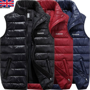 Image 4 - Men Winter Down Quilted Vest Body Warmer Warm Sleeveless Padded Jacket Coat