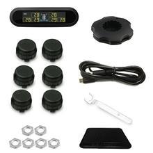 LCD universale TPMS Tire USB Pressione Monitoringal Sistema di Allarme 6 Sensori Esterni Ricaricabile sensore di Pressione Dei Pneumatici per VW Toyota SUV