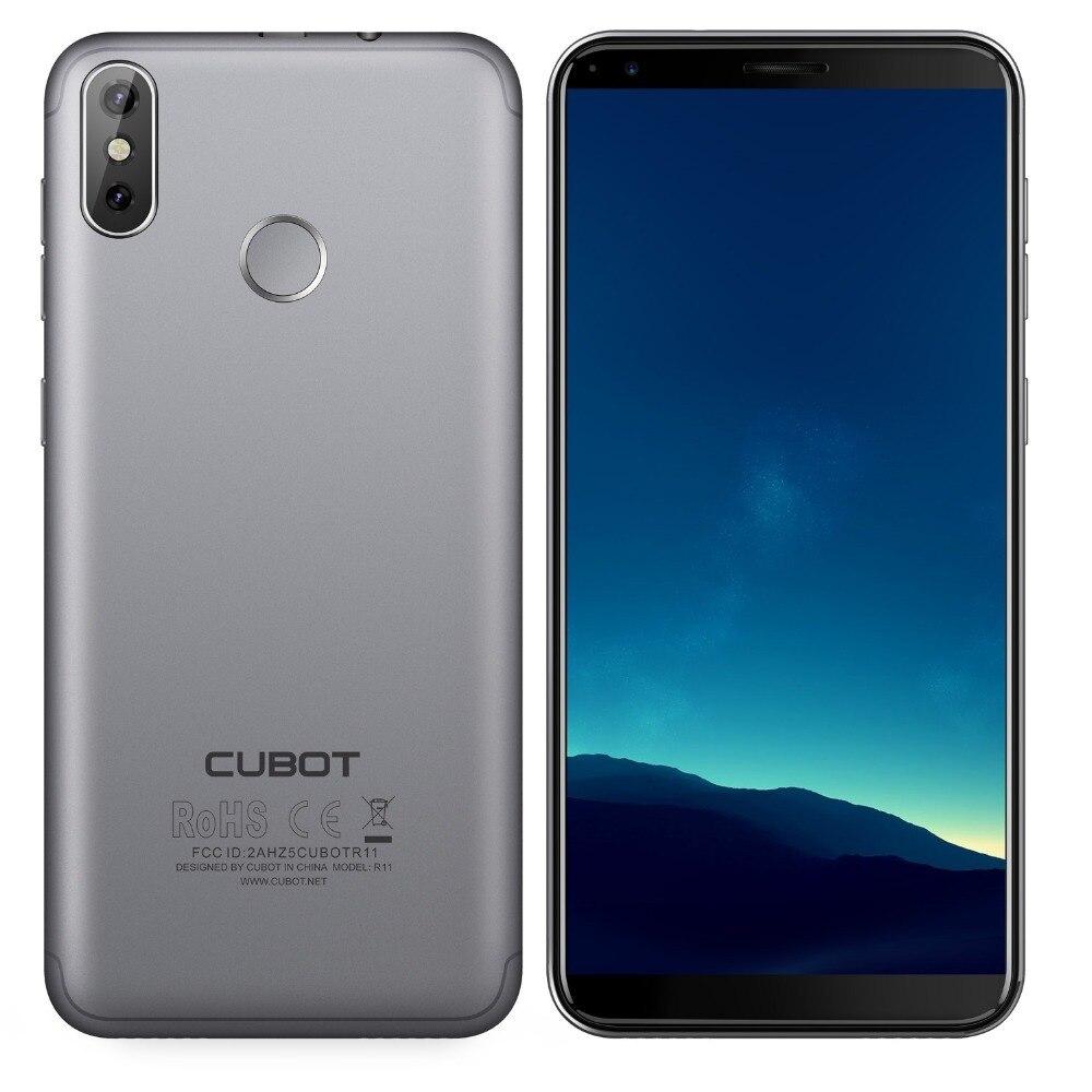 Cubot r11 android 8.1 5.5 3g smartphone 18:9 hd + tela mt6580 quad core celular 2g ram 16g rom duplo voltar câmeras telefones celulares - 6