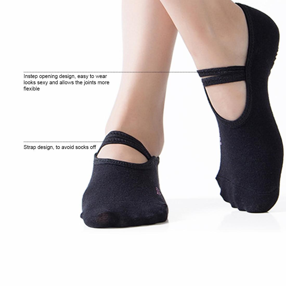 Women Socks Anti Slip Bandage Sports  Ladies ventilate Ballet Dance Sock Slippers