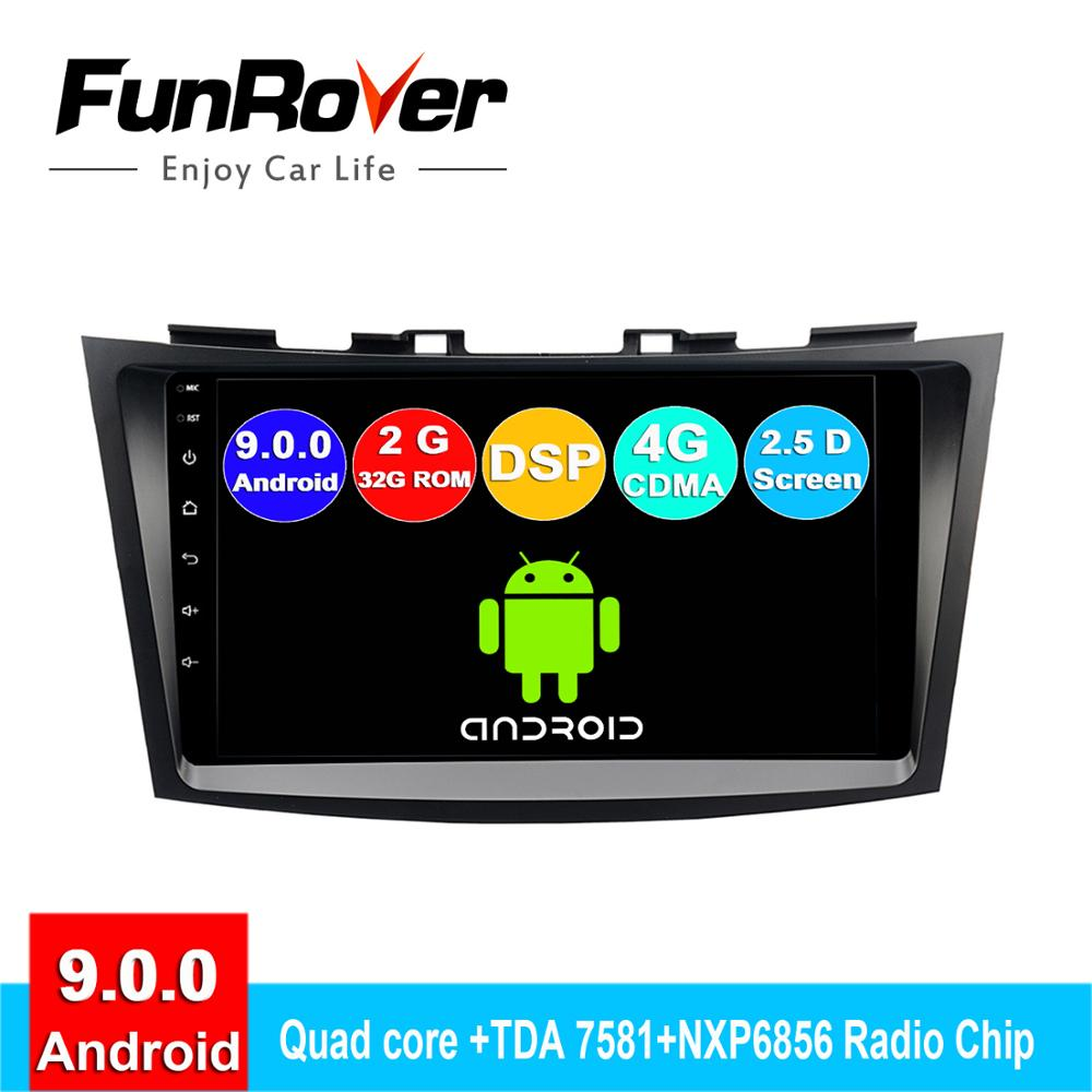 FUNROVER 2 din android 9.0 car dvd multimedia radio player For Suzuki Swift 2011-2015 navigation system gps navigatar stereo DSPFUNROVER 2 din android 9.0 car dvd multimedia radio player For Suzuki Swift 2011-2015 navigation system gps navigatar stereo DSP