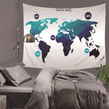 World Map Indian Tapestry Hippie Wall Hanging Tapestries Boho Bedspread Beach Towel Yoga Mat Blanket Table Cloth HA16